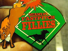 2001  Miami Fl Fastpitch Fillies  Girls Fast Pitch Softball Collectors Pin,