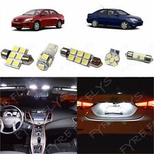 6x White LED lights interior package kit for 2003-2013 Toyota Corolla TC1W