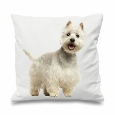 "West Highland Terrier 18"" x 18"" Filled Sofa Cushion - Yorkie Gift Present Dog"
