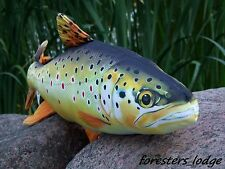 Brown Trout Soft Toy, Stuffed Fish, pillow, bar, pub, store, fishing, angling