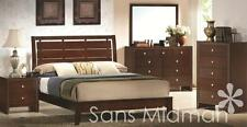 NEW! Eden Collection Queen Size Bed, 6 Piece Espresso Bedroom Furniture Set
