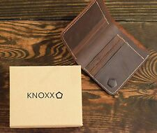 KNOXX full size rugged leather mens wallet - The Last Wallet You Will Ever Need
