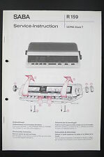 SABA Ultra Clock T Original Service-Instruction/Manual/Diagram/Schaltplan! o87