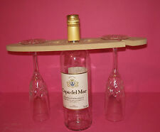 12mm Thick MDF Wine glass and bottle holder 320mm long craft blank