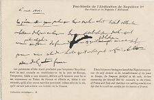 CC67. Vintage Postcard.Copy of the Abdication of Napoleon 1st of France