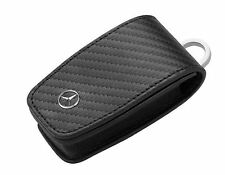 Genuine Mercedes Benz Keyring Car Key FOB Case Cover Leather - Carbon