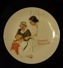 The Broken Window ☆ Norman Rockwell ☆ 1981 plate River Shore # 7814☆ no problems
