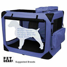 """Pet Gear Generation II Deluxe Portable Soft Crate 30"""" Lavender 50 lbs"""