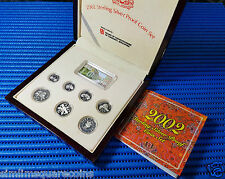 2002 Singapore Sterling Silver Proof Coin Set (1¢ - $5 Coin)