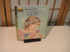 1992 My Little Golden Book About God by Jane Werner Watson Very Good Condition