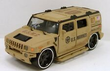 "5.5"" Diecast Model Hummer H2 Custom 1:35 scale SUV USMC U.S. Marines #166"