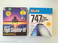 Microsoft Flight Simulator 98 + extension addon 747 jumbo jet PC Big Box FR