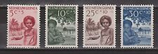 Indonesia Nederlands Nieuw Guinea New Guinea 45 46 47 48 MNH Kinderzegels 1957