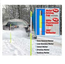 12 Driveway Snow YELLOW Reflective Markers Poles 48""