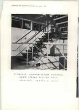 1951 Staircase, Admin Building, Down Stream Section Fob, Edward Mills Architect