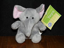 With Tags TESCO BABY ELEPHANT SOFT TOY GREY COMFORTER JUNGLE ANIMALS