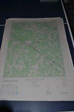 1940's Army topographic map Southanna Virginia -Sheet 5459 IV SW