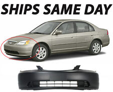New Primered - Front Bumper Cover Replacement 2001-2003 Honda Civic Coupe/Sedan