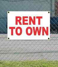 2x3 RENT TO OWN Red & White Banner Sign NEW Discount Size & Price FREE SHIP