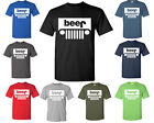Beer or Jeep Tee Shirt Funny Parody Logo Beer Jeep Tshirt  All Colors Sizes