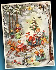SCHÖNER ALTER ADVENTSKALENDER 60er AFKH oder HACO 212 Printed in Western Germany