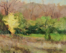 Yellow Tree  Fall original oil painting by Margaret Aycock Realism Impressionist