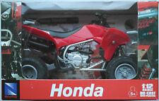 Newray-Honda quad TRX 450r (2009) 1:12 rojo nuevo embalaje original/