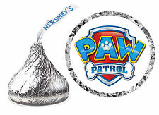 216 PAW PATROL BIRTHDAY PARTY FAVORS HERSHEY KISS LABELS