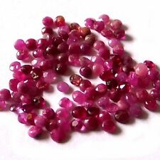 NATURAL UNUSUAL PIGEON BLOOD  RED RUBY LOOSE GEMSTONES (5 pieces) ROUND (1.5 mm)