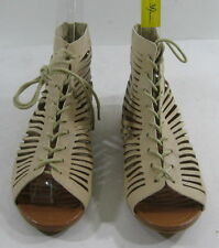 Summer NEW NUDE open toe lace up  WOMEN SHOES ROMAN GLADIATOR  SANDALS SIZE 8