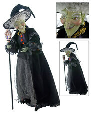 28-628066 Katherine's Collection Greta Green Witch Halloween Doll Hansel Gretel