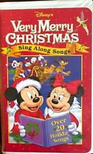 VHS Video DISNEY'S VERY MERRY CHRISTMAS SONGS SING ALONG SONGS 22 Songs VHS