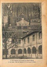 Chapelle de la Visitation de Paray-le-Monial  Marguerite-Marie 1920 ILLUSTRATION