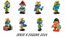 PUFFI SMURFS NEW 2016 JUNGLE SERIE COMPLETA 8 PUFFI COMPLET SET 8 SMURFS