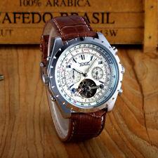 JARAGAR LUXUS MEN Herrenuhr  Leder Armband  Uhr  NEU white automatik mit Box