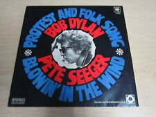 Musik Music Vinyl Bob Dylan Pete Seeger Protest and Folk Song Blowin´in the wind