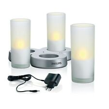 Philips Imageo LED Tealights 3EA Candle Rechargable New