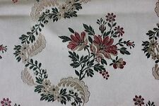 Pretty Vintage French c1930-1940s Floral & Lace Satin Brocade Fabric Textile