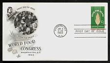 #1231 5c Food For Peace, Art Craft-World Food Congress FDC **ANY 4=FREE SHIP