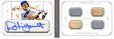 2015 NATIONAL TREASURES - ROBIN YOUNT BOOKLET AUTO QUAD JERSEY/BAT # 2/5 SP