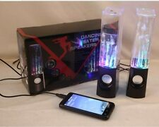 Black Music Water Fountain Speaker Dancing LED Light PC Laptop For iPhone iPod