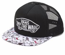 Vans x Disney Womens Trucker Hat Cap 101 Dalmatians Snapback Black White Dogs