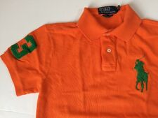 Polo Ralph Lauren Big Pony Short Sleeve Polo Shirt Men's S Custom Fit Orange