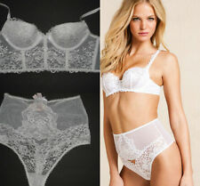 VICTORIA'S SECRET ANGEL FANTASIES  BRIDAL WHITE  EMBROIDERED BRA SET