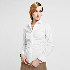 THOMAS PINK Classic Crisp White Wendy Slim fit stretch button shirt UK 4-6 BNWT