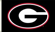 NCAA Georgia Bulldogs 3-by-5 Foot Flag G Logo with Black Background with Grommet