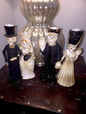 """Boney Bunch """"Frankenstein and Bride"""" Yankee Candle And Bride And Groom Taper Set"""