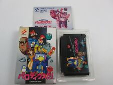 Parodius Da With box and manual Famicom FC NES Japan Ver