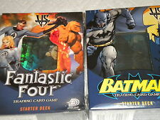 VS System Batman and Fantastic Four Trading Card Game Starter Sets New