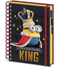 Minions A4 Spiral Bound Project Notebook Good to be King Official Lined School